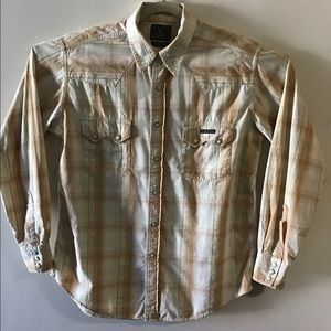 Lucky Brand western button up. Medium